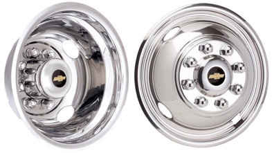 1990 - 2014 Chevy Chevrolet GM Licensed Wheel Simulators / Wheel Liners 16